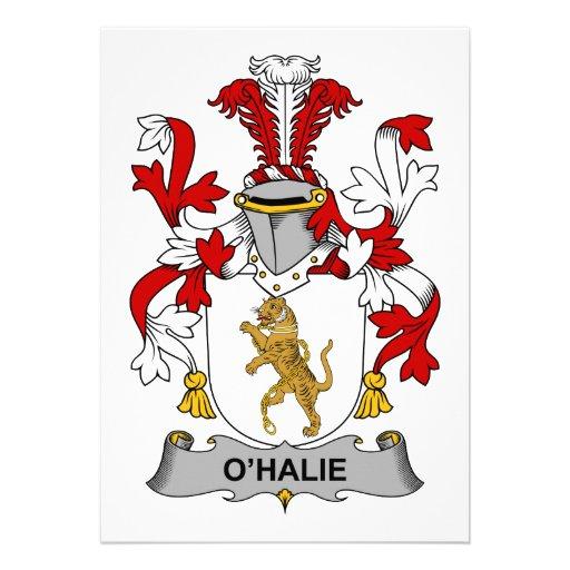 Escudo de la familia de O'Halie Comunicado Personal