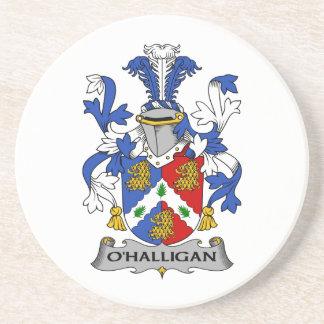 Escudo de la familia de O'Halligan Posavasos Diseño