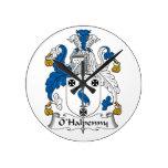 Escudo de la familia de O'Halpenny Relojes