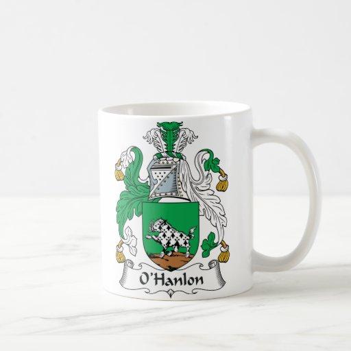 Escudo de la familia de O'Hanlon Taza Básica Blanca