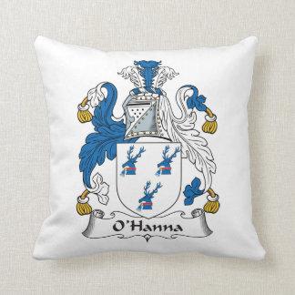 Escudo de la familia de O'Hanna Almohada