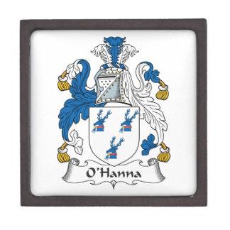 Escudo de la familia de O'Hanna Cajas De Regalo De Calidad