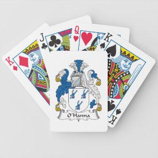 Escudo de la familia de O'Hanna Baraja Cartas De Poker