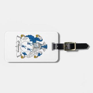 Escudo de la familia de O'Hanna Etiquetas De Equipaje