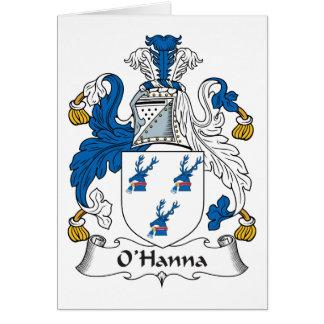 Escudo de la familia de O'Hanna Felicitacion