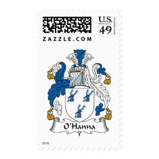 Escudo de la familia de O'Hanna Franqueo