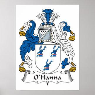 Escudo de la familia de O'Hanna Posters