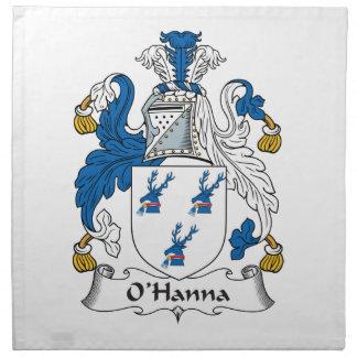 Escudo de la familia de O'Hanna Servilletas De Papel