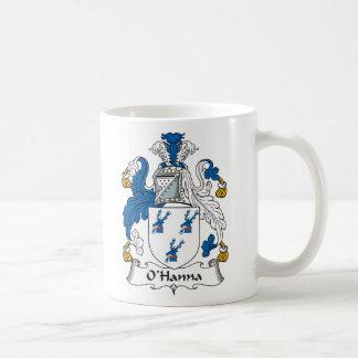 Escudo de la familia de O'Hanna Taza