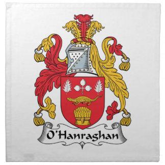 Escudo de la familia de O'Hanraghan Servilletas De Papel