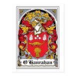 Escudo de la familia de O'Hanrahan Tarjetas Postales