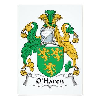 "Escudo de la familia de O'Haren Invitación 5"" X 7"""