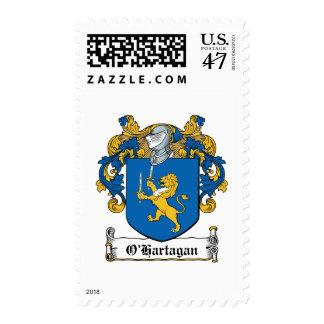 Escudo de la familia de O'Hartagan Estampillas