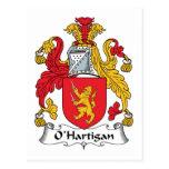 Escudo de la familia de O'Hartigan Postal