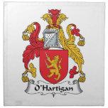 Escudo de la familia de O'Hartigan Servilleta De Papel