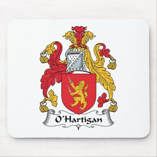 Escudo de la familia de O'Hartigan Alfombrillas De Ratones