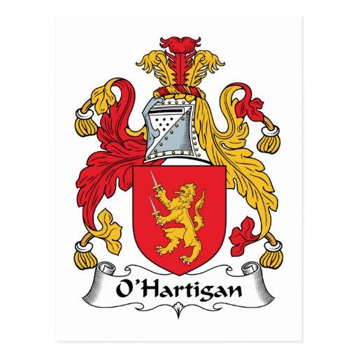 Escudo de la familia de O'Hartigan Tarjeta Postal