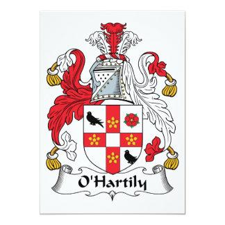 Escudo de la familia de O'Hartily Invitación 12,7 X 17,8 Cm