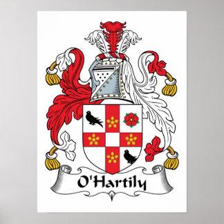Escudo de la familia de O'Hartily Impresiones