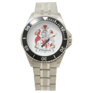 Escudo de la familia de O'Hayland Relojes