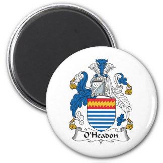 Escudo de la familia de O'Headon Imán Para Frigorífico