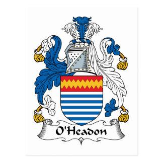 Escudo de la familia de O'Headon Postal