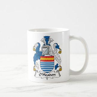 Escudo de la familia de O'Headon Tazas De Café