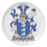 Escudo de la familia de O'Healey Platos De Comidas
