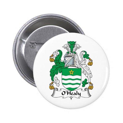 Escudo de la familia de O'Healy Pin Redondo 5 Cm