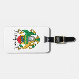 Escudo de la familia de O'Heffernan Etiquetas De Maletas