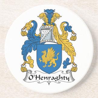 Escudo de la familia de O'Henraghty Posavaso Para Bebida