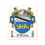 Escudo de la familia de O'Hickey Lona Estirada Galerías