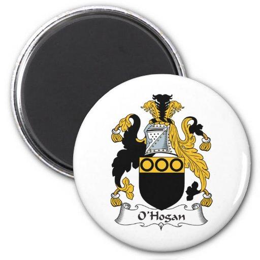 Escudo de la familia de O'Hogan Imán Redondo 5 Cm