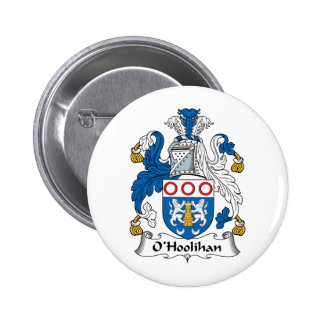 Escudo de la familia de O'Hoolihan Pin Redondo 5 Cm