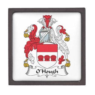 Escudo de la familia de O'Hough Cajas De Recuerdo De Calidad