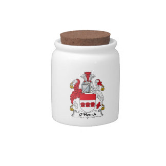 Escudo de la familia de O'Hough Jarra Para Caramelo