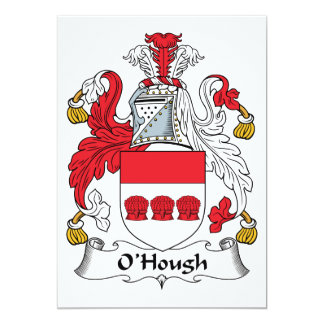 """Escudo de la familia de O'Hough Invitación 5"""" X 7"""""""