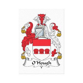 Escudo de la familia de O'Hough Lona Envuelta Para Galerías