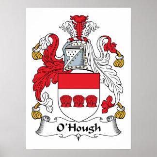 Escudo de la familia de O'Hough Póster