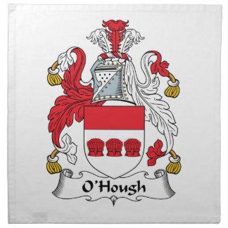 Escudo de la familia de O'Hough Servilleta De Papel