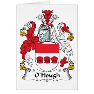 Escudo de la familia de O'Hough Tarjeta De Felicitación