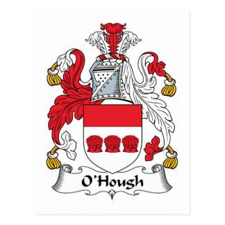 Escudo de la familia de O'Hough Tarjetas Postales