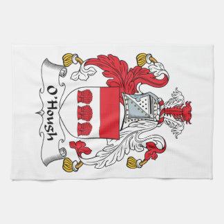 Escudo de la familia de O'Hough Toallas De Cocina