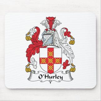 Escudo de la familia de O'Hurley Tapetes De Ratones
