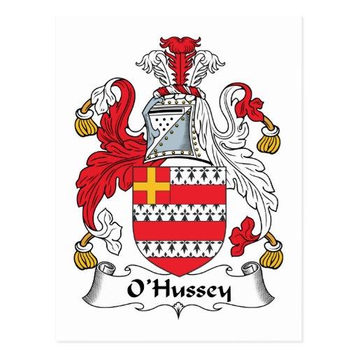 Escudo de la familia de O'Hussey Postales