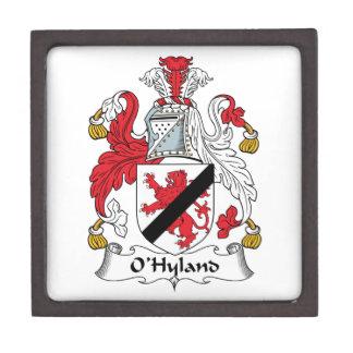 Escudo de la familia de O'Hyland Caja De Recuerdo De Calidad