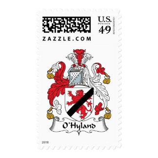 Escudo de la familia de O'Hyland Franqueo