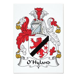 """Escudo de la familia de O'Hyland Invitación 5"""" X 7"""""""