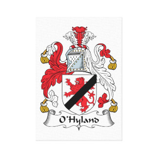 Escudo de la familia de O'Hyland Lienzo Envuelto Para Galerias