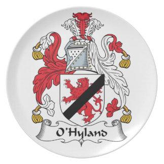 Escudo de la familia de O'Hyland Platos